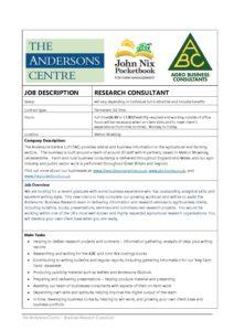 research consultant job description
